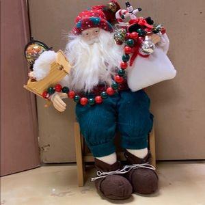 Santa on a hard stool